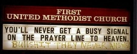 Am anderen Gebetsende antwortet nie einer?