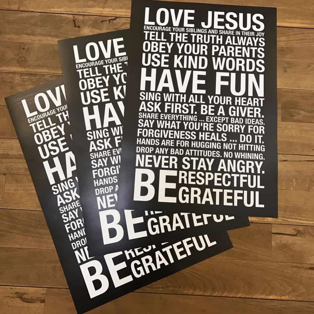 "Poster ""Love Jesus"""